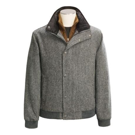 J.G. Glover Harris Tweed Jacket - Wool (For Men) in Grey Herringbone