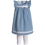 Jillian's Closet Flutter-Sleeve Dress and Leggings - Sleeveless (For Infant Girls)
