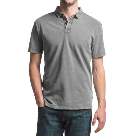JKL Pigment-Dyed Pique Polo Shirt - Short Sleeve (For Men) in Quiet Shade - Closeouts