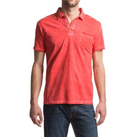 JKL Pigment-Dyed Polo Shirt - Short Sleeve (For Men) in Core Red - Closeouts