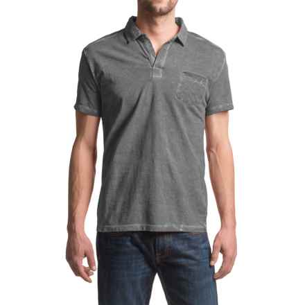 JKL Pigment-Dyed Polo Shirt - Short Sleeve (For Men) in Turbulence - Closeouts