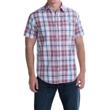 JKL Single-Pocket Plaid Shirt - Short Sleeve (For Men) in Classic Blue/Red - Closeouts