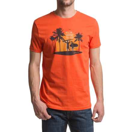 JKL The Company You Keep Graphic T-Shirt - Short Sleeve (For Men) in Cherry Tomato - Closeouts