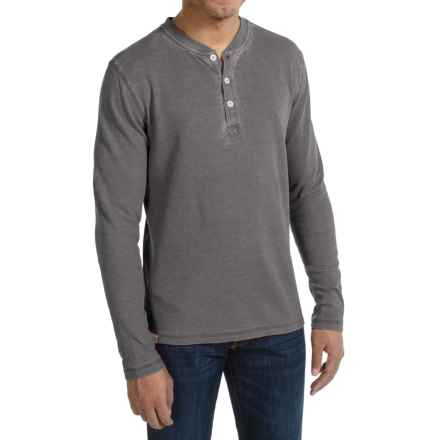 JKL Waffle-Knit Henley Shirt - Long Sleeve (For Men) in Asphalt - Closeouts
