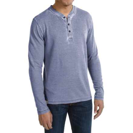 JKL Waffle-Knit Henley Shirt - Long Sleeve (For Men) in Vintage Indigo - Closeouts