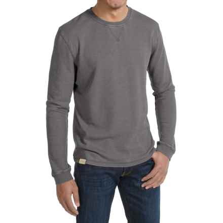 JKL Waffle-Knit Shirt - Crew Neck, Long Sleeve (For Men) in Asphalt - Closeouts