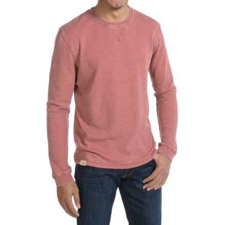 JKL Waffle-Knit Shirt - Crew Neck, Long Sleeve (For Men) in Red Dahlia - Closeouts