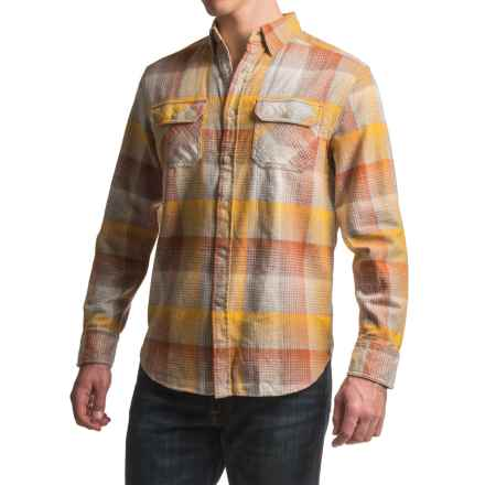 JKL Washed-Cotton Flannel Shirt - Long Sleeve (For Men) in Golden Glow - Closeouts