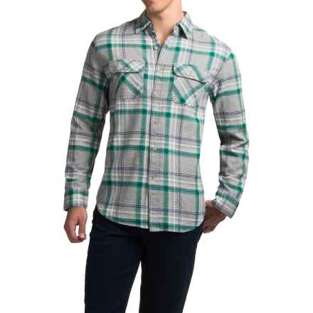 JKL Washed-Cotton Flannel Shirt - Long Sleeve (For Men) in Ultra Marine - Closeouts