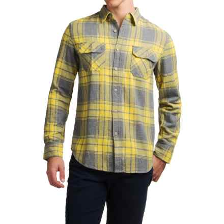 JKL Washed-Cotton Flannel Shirt - Long Sleeve (For Men) in Warm Olive - Closeouts