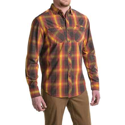 JKL Washed-Cotton Plaid Shirt - Long Sleeve (For Men) in Burnt Ochre - Closeouts