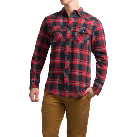 JKL Washed Flannel Shirt - Long Sleeve (For Men) in Core Red - Closeouts