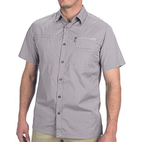 JKL Woven Shirt - Short Sleeve (For Men) in Mid Grey