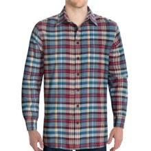 J.L. Powell Gallatin Shirt - Brushed Cotton, Long Sleeve (For Men) in Light Blue/Red - Closeouts
