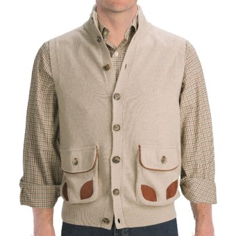 J.L. Powell Sweater Vest - Merino Wool Blend (For Men) in Natural