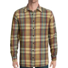 J.L. Powell The Chapelco Shirt - Flannel, Long Sleeve (For Men) in Wheat - Closeouts