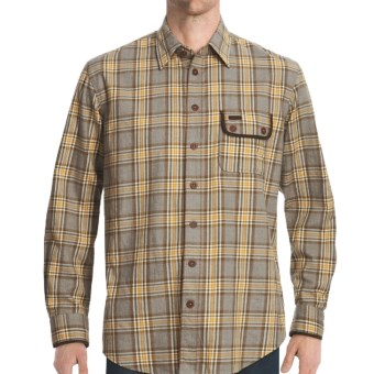 J.L. Powell The Flathead Shirt - Cotton-Wool, Long Sleeve (For Men) in Light Grey Heather