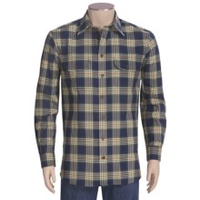 J.L. Powell The Huntsman Shirt - Cotton-Wool, Long Sleeve (For Men) in Navy Plaid - Closeouts