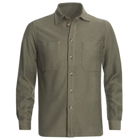 J.L. Powell The Miner Work Shirt - Cotton Twill, Long Sleeve (For Men) in Olive
