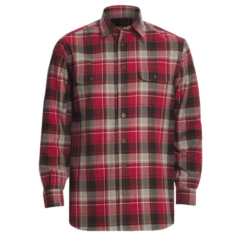 J.L. Powell The Sonora Shirt - Cotton-Wool, Long Sleeve (For Men) in Red Plaid
