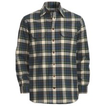 J.L. Powell Wapiti Work Shirt - Cotton-Wool, Long Sleeve (For Men) in 717 Green/Navy - Closeouts