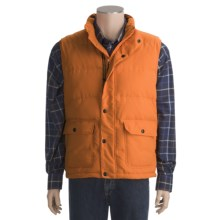 J.L. Powell Wind River Goose Down Vest - 800 Fill Power (For Men) in Orange - Closeouts
