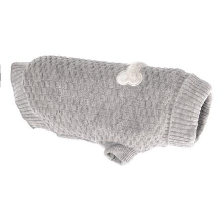 JLA Friends Forever Halo Grey Bone Dog Sweater - Large in Grey - Closeouts 0a3ce93da5f