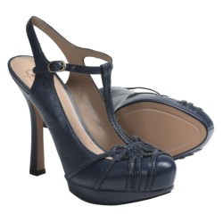 Joan and David Dareith T-Strap Shoes - Leather (For Women) in Navy