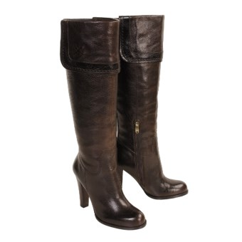 Joan & David Jaron Tall Boots - Leather (For Women) in Dk Brown