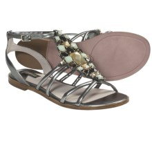 Joan & David Kadi Gladiator Sandals - Leather (For Women) in Pewter - Closeouts