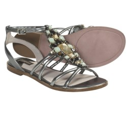 Joan & David Kadi Gladiator Sandals - Leather (For Women) in Pewter