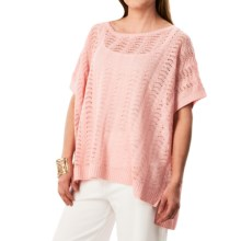Joan Vass Boat Neck Dolman Sweater (For Women) in Blossom - Closeouts