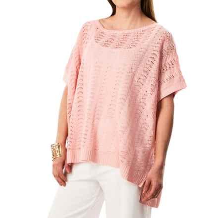 Joan Vass Boat Neck Dolman Sweater (For Women) in Blossom - Closeouts