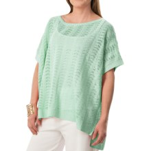 Joan Vass Boat Neck Dolman Sweater (For Women) in Spearmint - Closeouts