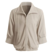 Joan Vass Bomber Jacket - Zip Front (For Women) in Sable - Closeouts