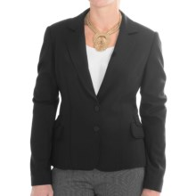 Joan Vass Button-Front Blazer (For Women) in Black - Closeouts