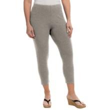 Joan Vass Classic Crop Leggings - Modal-Cotton (For Women) in Grey Heather - Closeouts