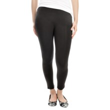 Joan Vass Cotton Blend Leggings (For Women) in Black - Closeouts