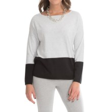 Joan Vass Cotton Dolman Sweater (For Women) in Black - Closeouts