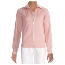 Joan Vass Cotton Knit Jacket - Plus Size (For Women) in Blossom Pink - Closeouts