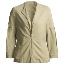 Joan Vass Double-Knit Zip Jacket (For Women) in Beige