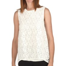 Joan Vass Double-Layer Lace Tank Top (For Women) in Ivory - Closeouts