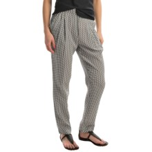 Joan Vass Drape-Pocket Silk Pants (For Women) in Black Combo - Closeouts