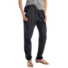 Joan Vass Drape-Pocket Silk Pants (For Women) in Black - Closeouts