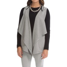 Joan Vass Drape Vest Hoodie (For Women) in Silver - Closeouts