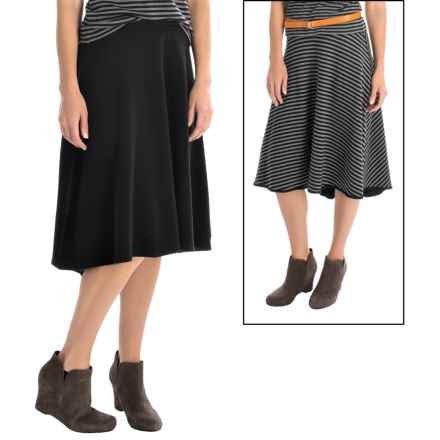 Joan Vass High-Low Skirt - Reversible (For Women) in Indigo - Overstock