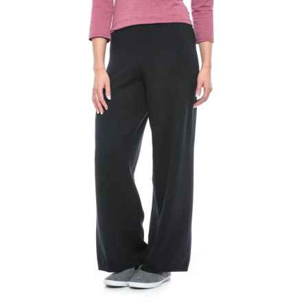 Joan Vass Knit Crop Pants (For Women) in Black - Closeouts