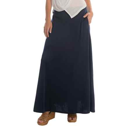 Joan Vass Long Soft Skirt (For Women) in Indigo - Overstock