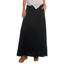 Joan Vass Long Soft Skirt (For Women) in Pitch Black - Overstock