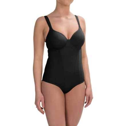 Joan Vass Medium-Compression Shapewear Bodysuit - Molded Cups (For Women) in Black - Closeouts
